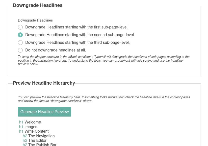 screenshot of the headline preview