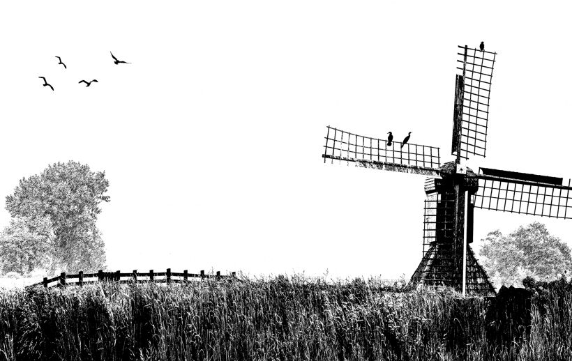 Picture of a windmill
